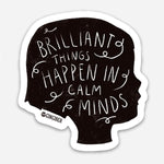 Gingiber Calm Minds Sticker