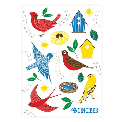 Gingiber Birdie Sticker Sheet