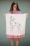 Dolly the Dalmatian Tea Towel