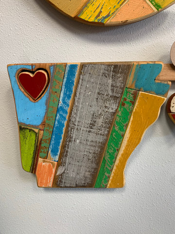 Woodworx Workshop Arkansas Heart art