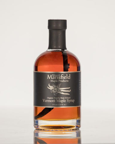Mount Mansfield Vermont Vanilla Bean Infused Maple Syrup