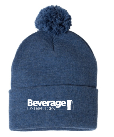 Beverage Winter Hat w/Pom
