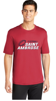 St. Ambrose Football Dri Fit Tee
