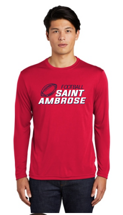 St. Ambrose Football Longsleeve Dri Fit