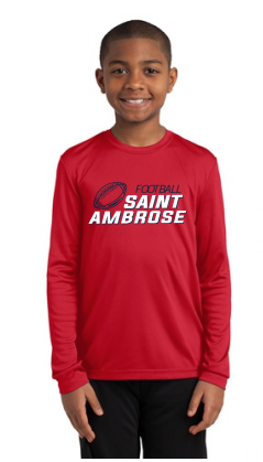 St. Ambrose Football Long Sleeve Tee