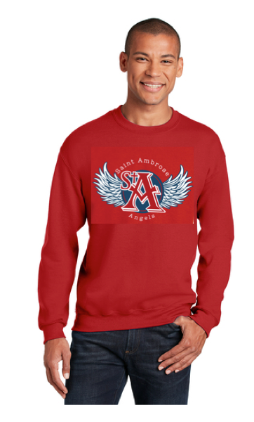 St. Ambrose Spirit Wear Wings Crew Neck