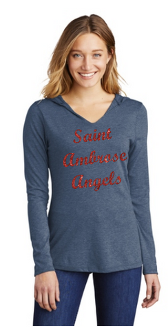 St. Ambrose Sparkle Long Sleeve Shirt Hood