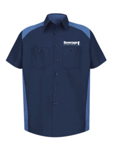 Beverage Uniform Short Sleeve Motor Sports Shirt SP28