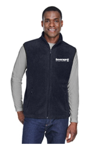 Beverage Fleece Zip Up Vest M985