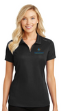 OhioGuidestone Port Authority® Ladies Pinpoint Mesh Zip Polo