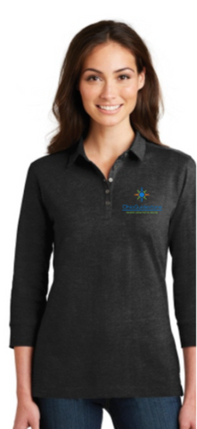 OhioGuidestone Port Authority® Ladies 3/4-Sleeve Meridian Cotton Blend Polo