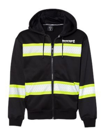 Beverage Distributors Enhanced Visibility Full-Zip Hooded Sweatshirt B310