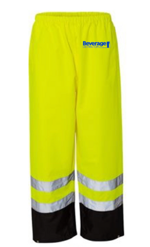 Beverage Distributors Rain Pants RWP102-103