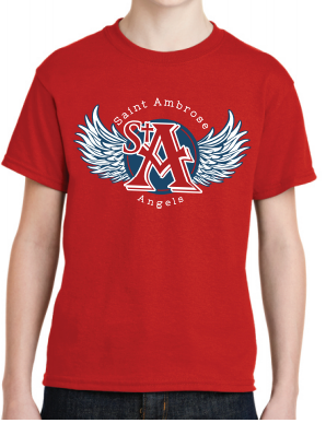 St. Ambrose Spirit Wear Wings Tee