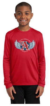 St. Ambrose Spirt Wear Wings Long Sleeve Dri Fit Tee