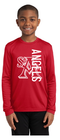 St. Ambrose Spirt Wear Angels Long Sleeve Dri Fit Tee