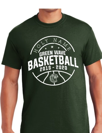 Holy Name Basketball Outline Forest Green