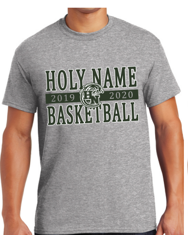 Holy Name Basketball 2020 Grey