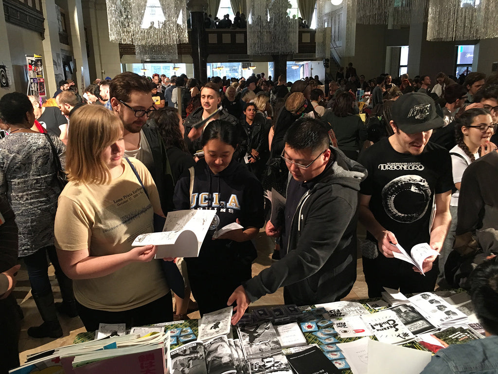 LA Zine Fest View from the Giant Robot Table
