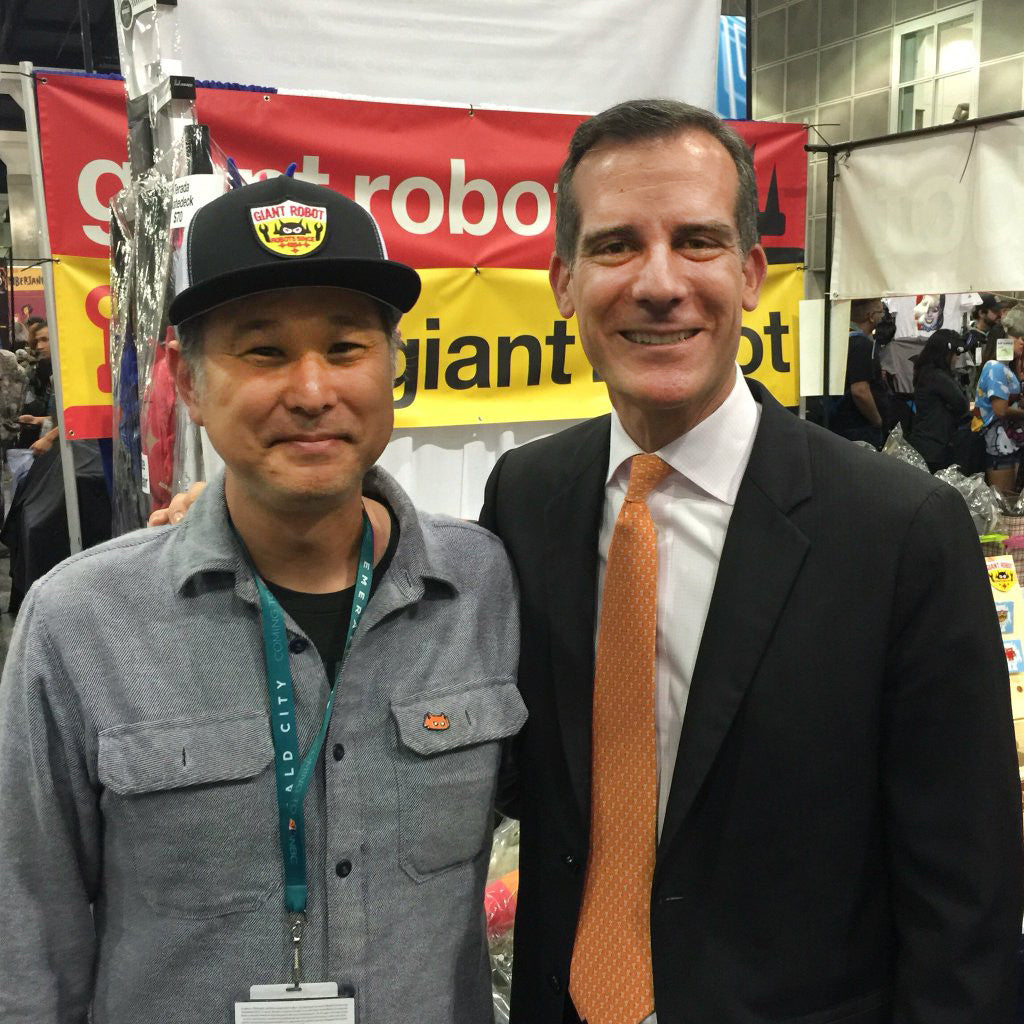 Mayor of Los Angeles Eric Garcetti Visits GR at WonderCon
