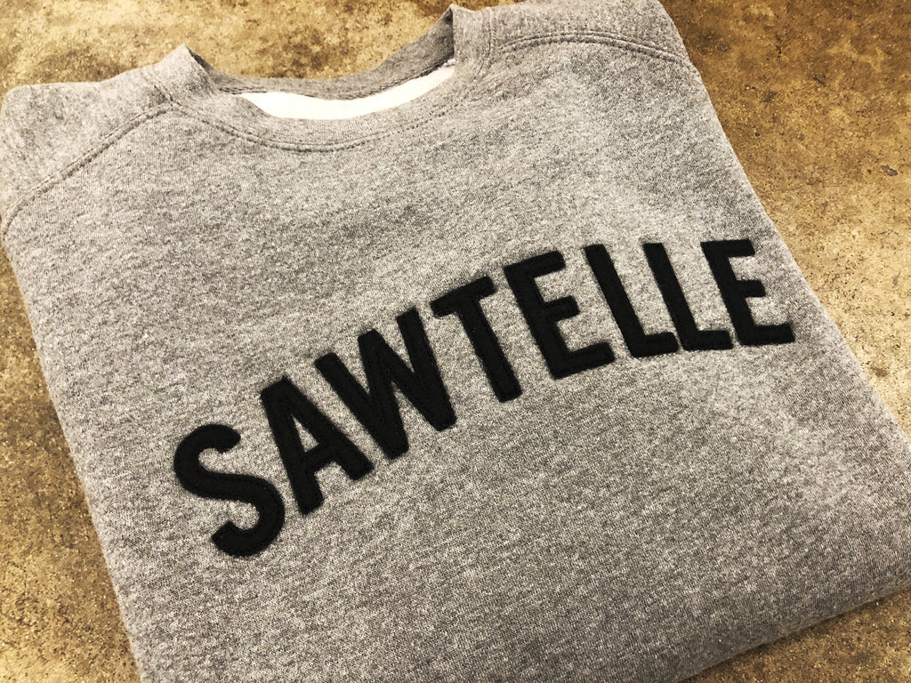 Sawtelle Applique Pull Over Crew Neck Sweatshirt