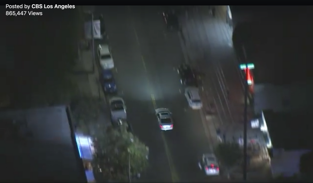High Speed Chase Goes Down Sawtelle Blvd and It's All About The Neon