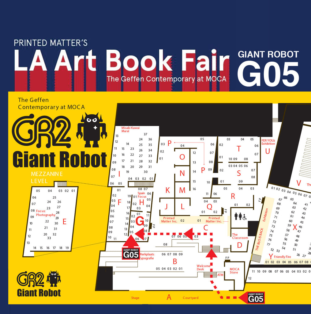 Giant Robot at the LA Art Book Fair - BOOTH G05