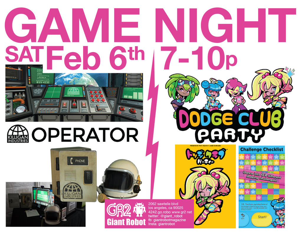 Game Night - Operator and Dodge Club Party