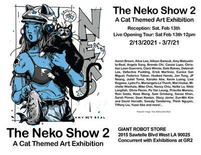 Neko Show (Cat themed) Begins Sat 2/13 12 noon