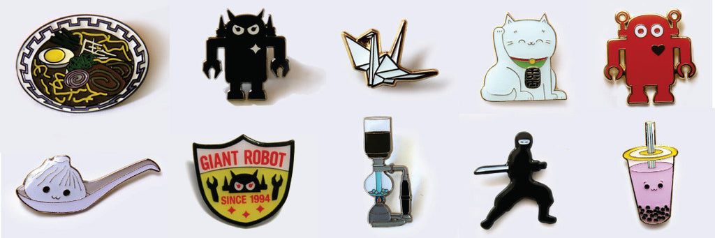 Designing the Giant Robot Pin Collection