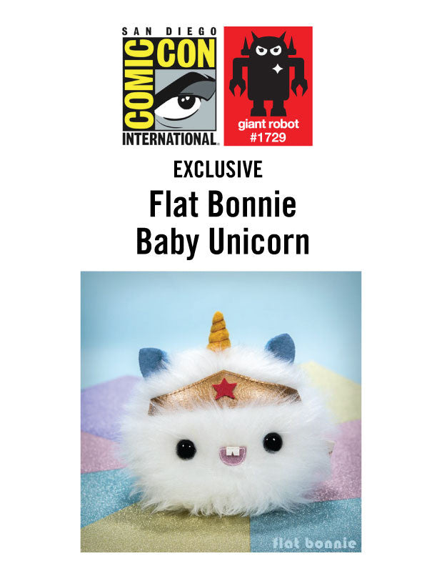 GR X SDCC 2017 Flat Bonnie Baby Unicorn