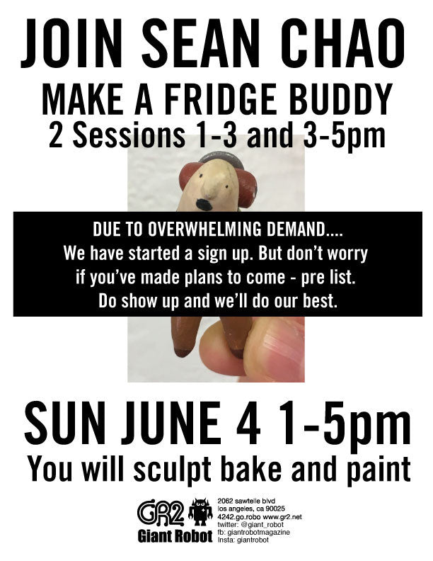 Make a Fridge Buddy - Workshop with Sean Chao