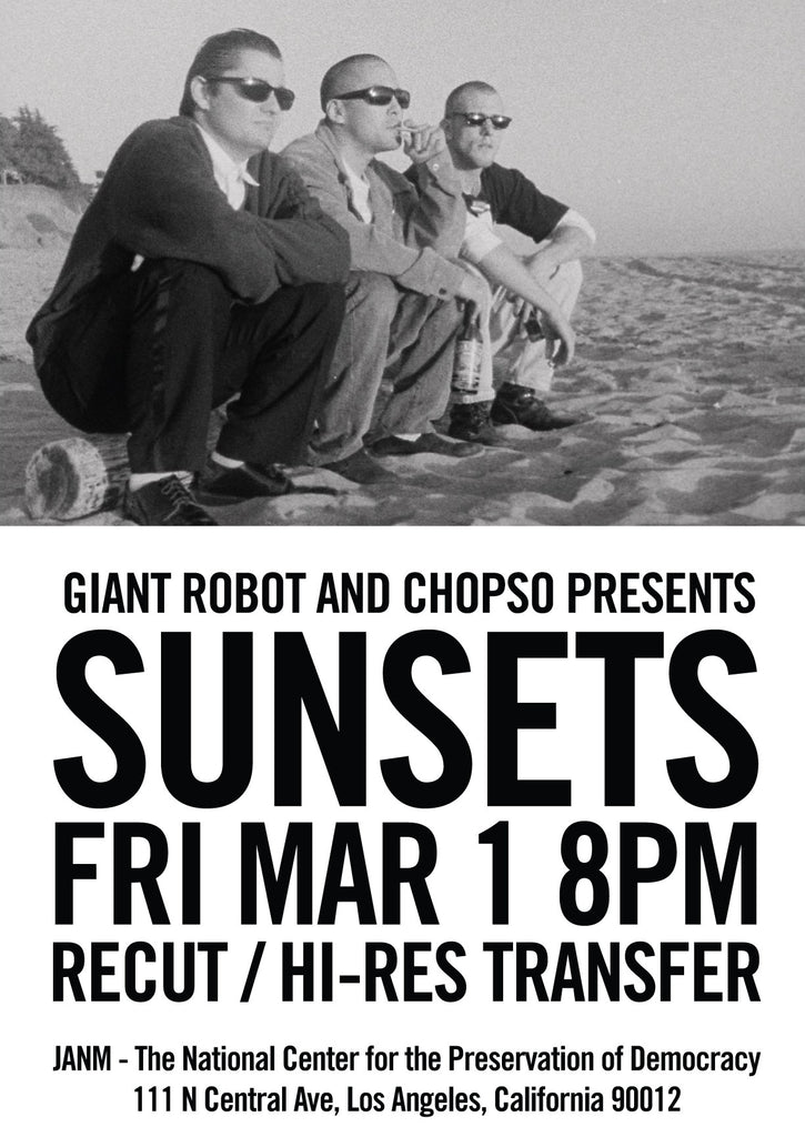 Free Film! Giant Robot and Chopso Presents Sunsets March 1 8pm JANM