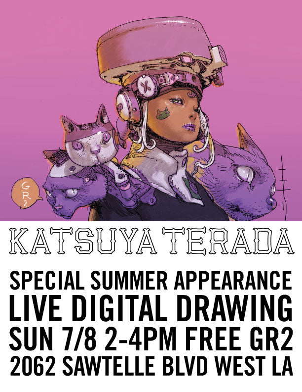 Special Summer Appearance - Katsuya Terada Live Digital Drawing Sun 7/8 2-4pm Free