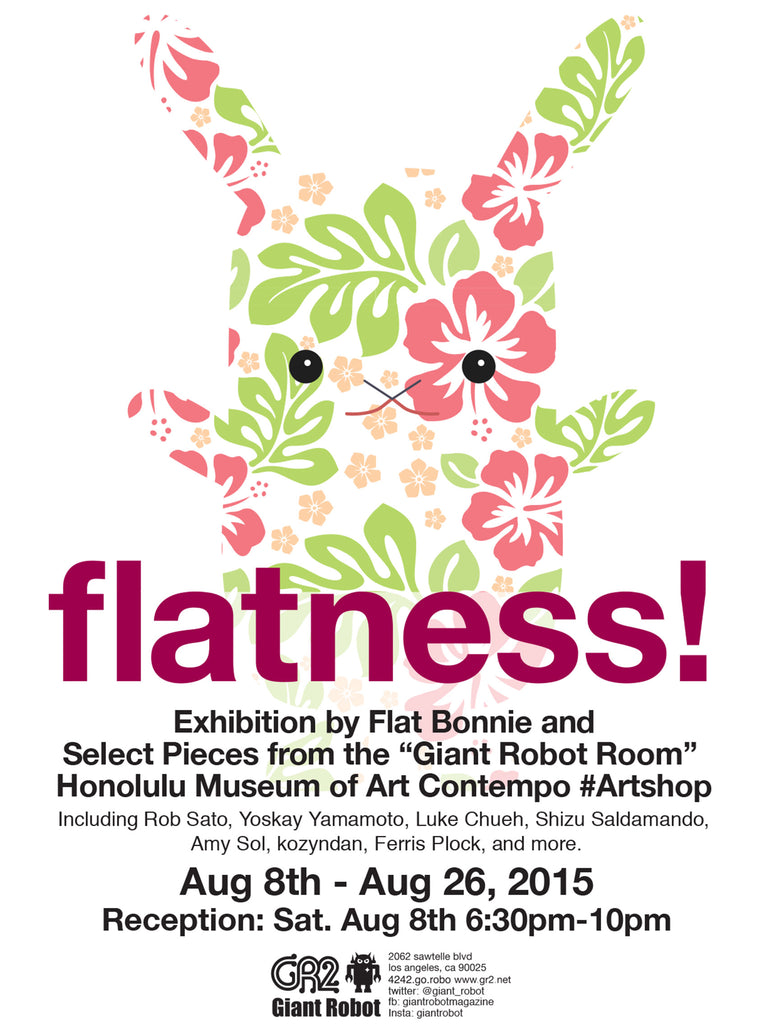 Flatness! Exhibition by Flat Bonnie and Select Pieces from the Giant Robot Room Honolulu Museum of Art Contempo #artshop