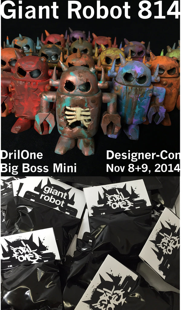 Designer Con X Giant Robot X DrilOne Big Boss Robot Custom Blind Packs