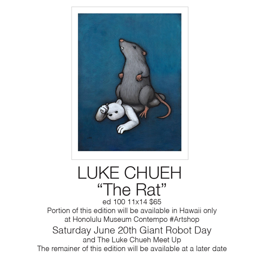 Print Release: Honolulu Museum of Art / Luke Chueh Meet Up - The Rat Print Release - Luke Chueh