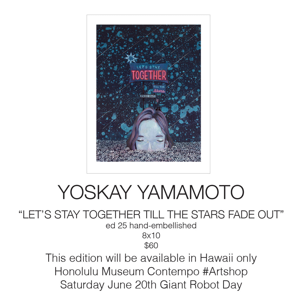 Print Release at Honolulu Museum of Art - Let's Stay Together Till The Stars Fade Out - Yoskay Yamamoto