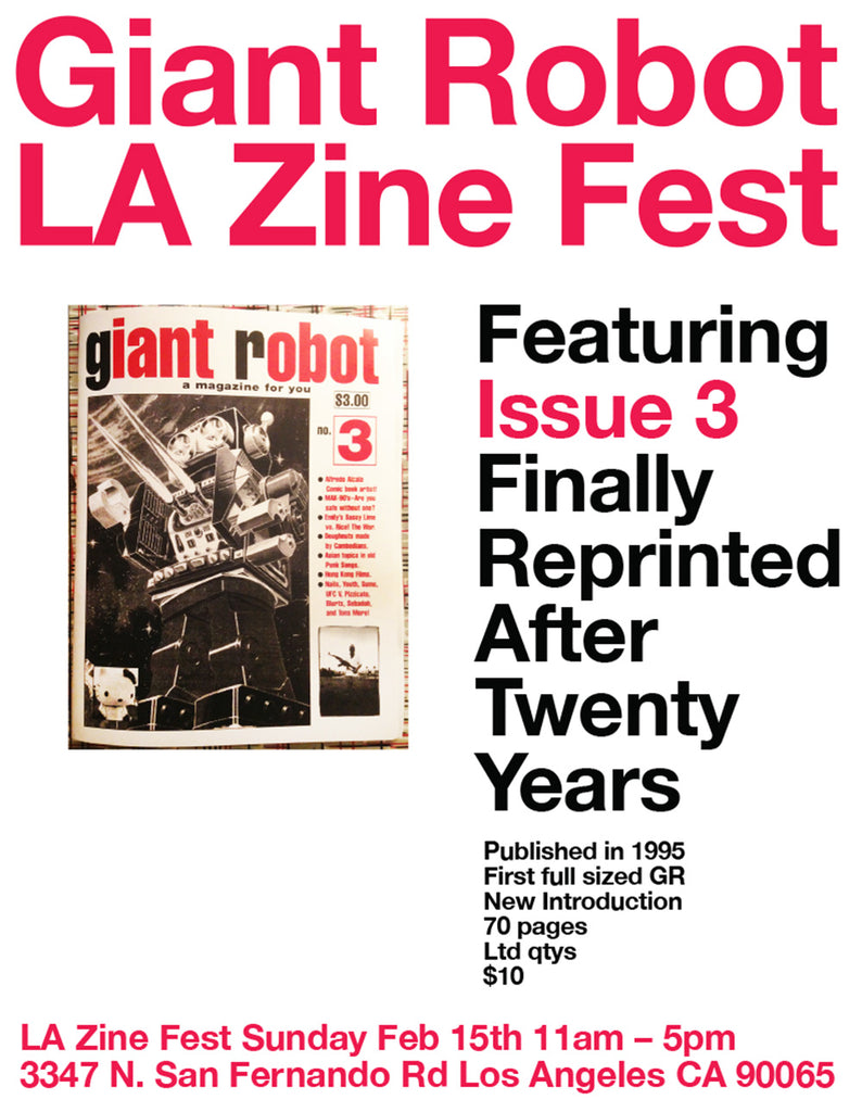 Giant Robot at LA Zine Fest Feb 15