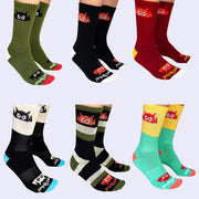 Giant Robot - Big Boss Robot Socks (Six Pack - One of Each Color)