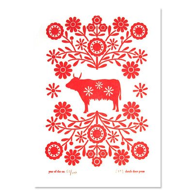 Dutch Door Press - Year of the Ox Print