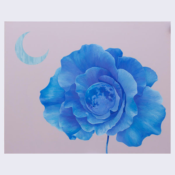 Yoskay Yamamoto - My Colour with U in Mind - Moon Flower in Blue Over Pale Pink - #17