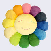 Takashi Murakami - Rainbow Large Flower Cushion (1 Meter, blue mouth version)