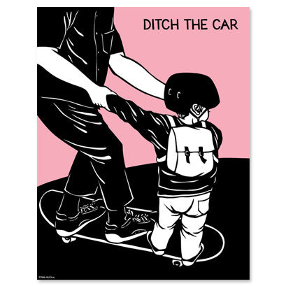 Nikki McClure Poster - Ditch The Car