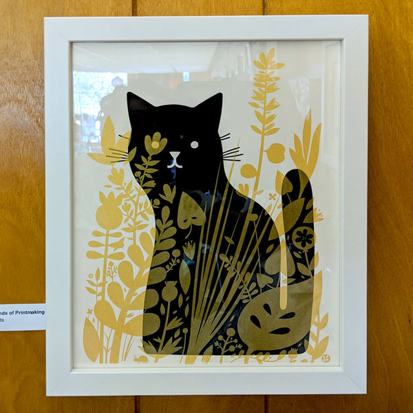 The Little Friends of Printmaking	- Cat Behind Plants