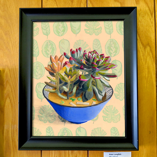 Nikki Longfish - Miso Plants (original or unframed print)