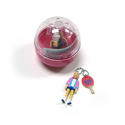 Ping Pong Player Keychain Capsule Toy