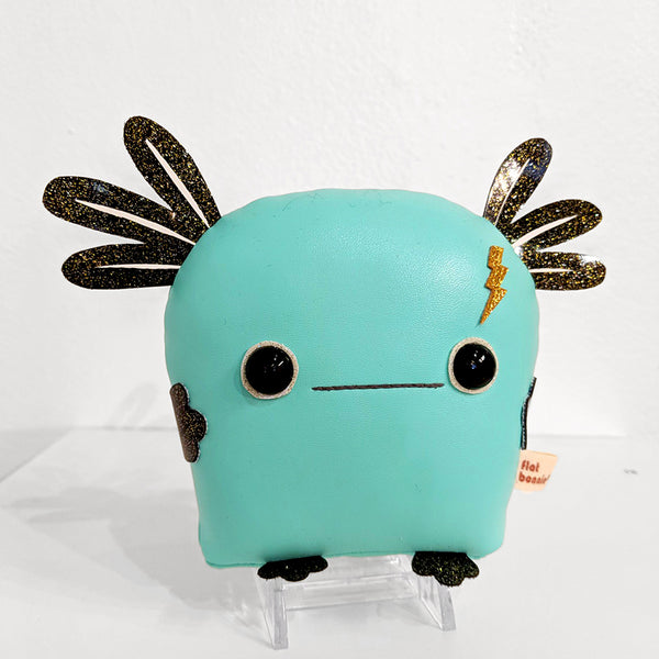 "Flat Bonnie - Momo the Anxious Axolotl ""Emo"" Edition (Blue/Black Glitter) Small - #89"