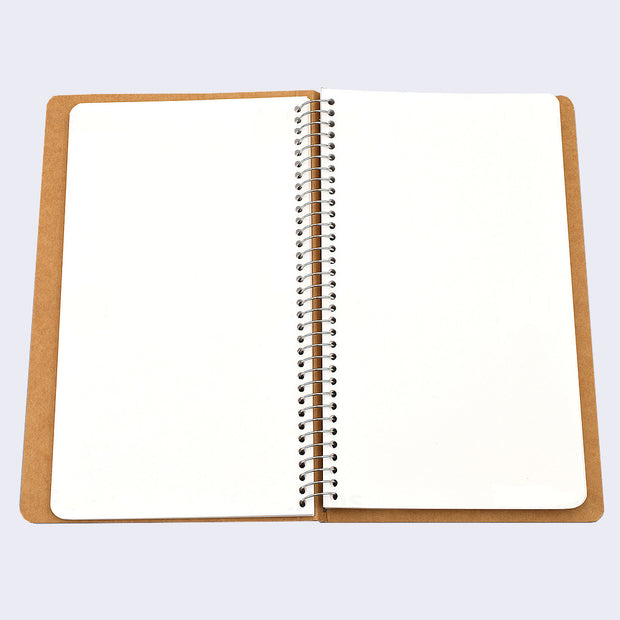 Midori Spiral Ring Plain Paper Notebook (Large) A5