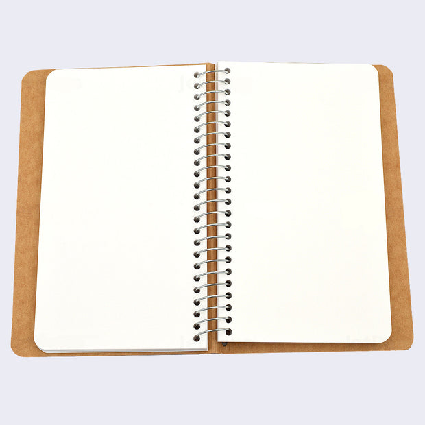 Midori Spiral Ring Plain Paper Notebook (Small) A6